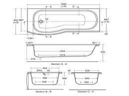 standard bathtub size india