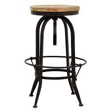 rustic wood bar stools. Natural Wood Bar Stools Innovative Furniture Height Adjustable Industrial Metal Black Rustic