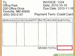How To Make A Invoice Adorable How To Make An Invoice With Sample Invoices WikiHow