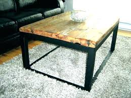 delighful coffee casual square wood and metal coffee table b0544837 round in round wood and metal coffee table l