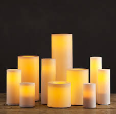 outdoor candle lighting. Battery-Operated Indoor/Outdoor Flameless Pillar Candle Outdoor Lighting