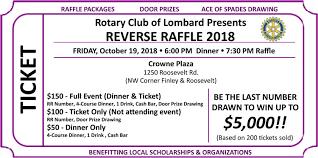 2018 Lombard Rotary Reverse Raffle Rotary Club Of Lombard