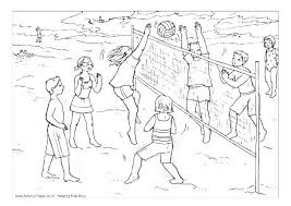 Volleyball Color Pages Volleyball Coloring Pages Printable Beach Volleyball Coloring Pages