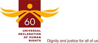 le e anniversaire de la declaration universelle des droits de l   a human rights management framework poster logo
