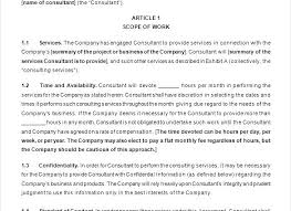 Scope Of Services Agreement Template Physical Incubation Corporate ...