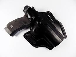 frontline quality premium leather owb carry holster cz 75 sp 01 shadow black