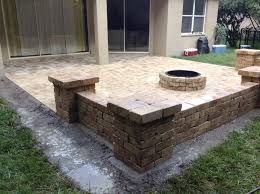 backyard pavers ideas elegant paver patio with gas fire pit interior in 20