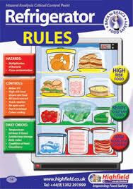 Food Hygiene Poster Poster 14 Refrigerator Rules Highfield Training Products Food