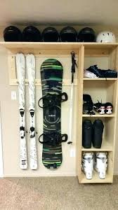 garage ski rack ski rack garage ski boot helmet snowboard storage for garage overhaul ski rack