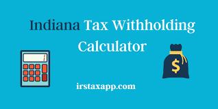 Indiana Paycheck Tax Calculator Internal Revenue Code