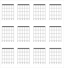 Image Result For Free Guitar Chord Blank Chart In 2019