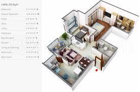 1bhk 2t study 6 super area 933 sq ft apartment