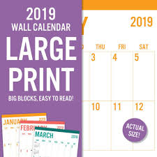 print a calendar 2019 2019 avalon large print basic wall calendar big grid by leap year