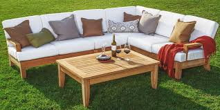 wood outdoor sectional. Teak Wood Outdoor Sectional Sofa Set R