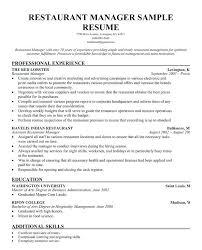 General Manager Resumes Restaurant General Manager Resume Templates Beauteous Restaurant General Manager Resume