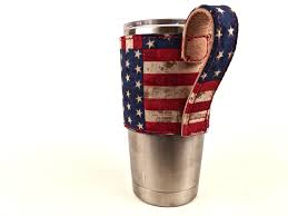 yeti cup leather holder old glory