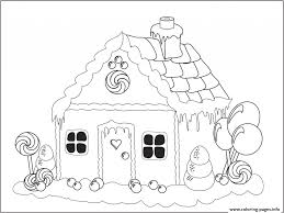 Gingerbread House Coloring Pages Printable Dapmalaysiainfo
