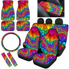 cool tie dye auto car seat covers full