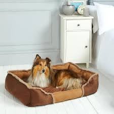 Luxury <b>Dog</b> Kensington Bed | Suede & Fleece – Bunty