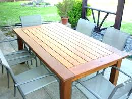patio round wood patio table full size of wooden plans outdoor dining free deck