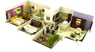 inspiring 3d home plan sq ft modern at apartment view is like