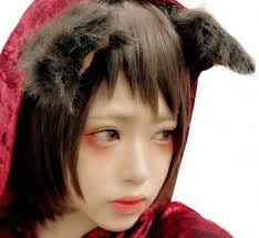 little red riding hood looks upset that the big bad wolf was not waiting at granny s