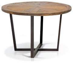 rustic pine wood round dining table industrial dining tables by artefac