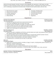 Sample Retail Manager Resume Sample Resume For Retail Manager