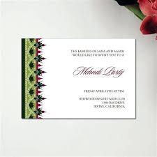 Mehndi Invitation Card Template Wedding Invitation Wording For