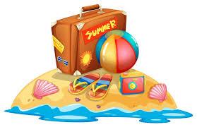 Viele Sommer Strandausrüstung 372849 Vektor Kunst bei Vecteezy