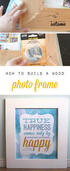 learn how to build a large mitered photo frame for under 10 dollars in about half