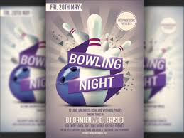 Bowling Event Flyer Template Bowling Nights Party Flyer Template By Hotpin On Dribbble