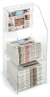 Newspaper Display Stands Best Small Acrylic Newspaper Rack Designed For Countertop Use