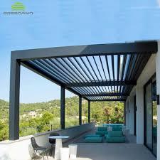 Roof Shade Design Modern Design Sun Shade Rainproof Outdoor Aluminum Sun Roof Louver Pergola View Aluminum Sun Louver Product Details From Guangzhou Greenawn Awning