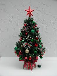Mini Christmas Tree With Lights And Decorations Tabletop Christmas Tree Miniature Tree Fully Decorated