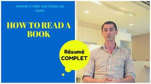 How To Read A Book Mon Resume En Francais Youtube