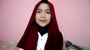 Tutorial Hijab untuk wajah bulat dan tembem