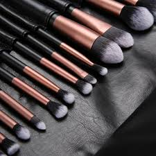 ovonni 24pcs professional superior makeup brush face eyeshadow eyebrow lip cosmetic tools brush roll set walmart