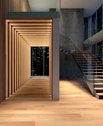 natural wooden cladding floor walls 6