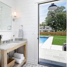 pool bathroom. Lovable Pool Bathroom Ideas With Restoration Hardware Vanity Design