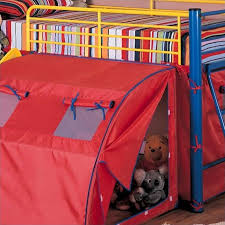 bunk bed with slide and tent. Coaster Kids Metal Twin Loft Bunk Bed With Slide And Tent