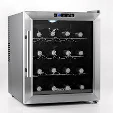 wine enthusiast silent  bottle wine refrigerator (stainless