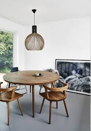 Wooden Round Dining Table Decoration