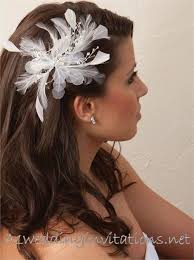 29 best wedding hair pieces images on pinterest wedding hair Wedding Hair Pieces With Feathers white or ivory wedding hair piece Flower and Feather Hair Pieces
