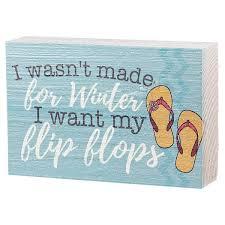 flip flop winter mini sign home decor