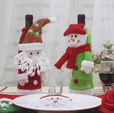 Großhandel Christbaumschmuck Flasche Champagner Neue Weihnachtsmann Flasche Champagner Wein Flasche Restaurant Weihnachtsschmuck Weihnachtsgeschenk