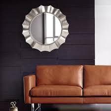 w round corona silver mirror