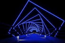led design lighting. The High Trestle Trail Bridge At Night. Led Design Lighting I