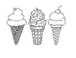 Small Picture PRINTABLE COLORING SHEET Instant Download Ice Cream Cones