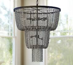 anise black tiered crystal chandelier
